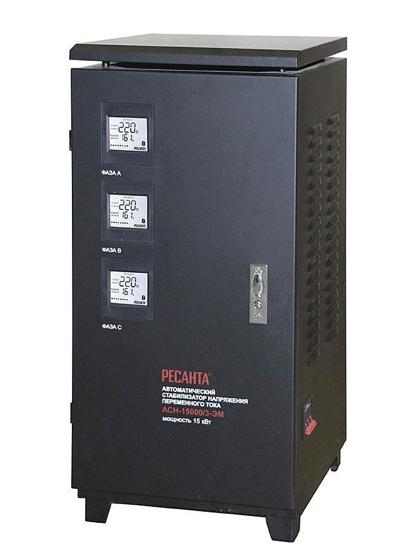Стабилизатор напряжения  РЕСАНТА ACH-15000/3  ЭМ