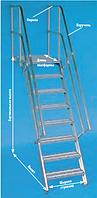 Алюминиевая лестница с платформой