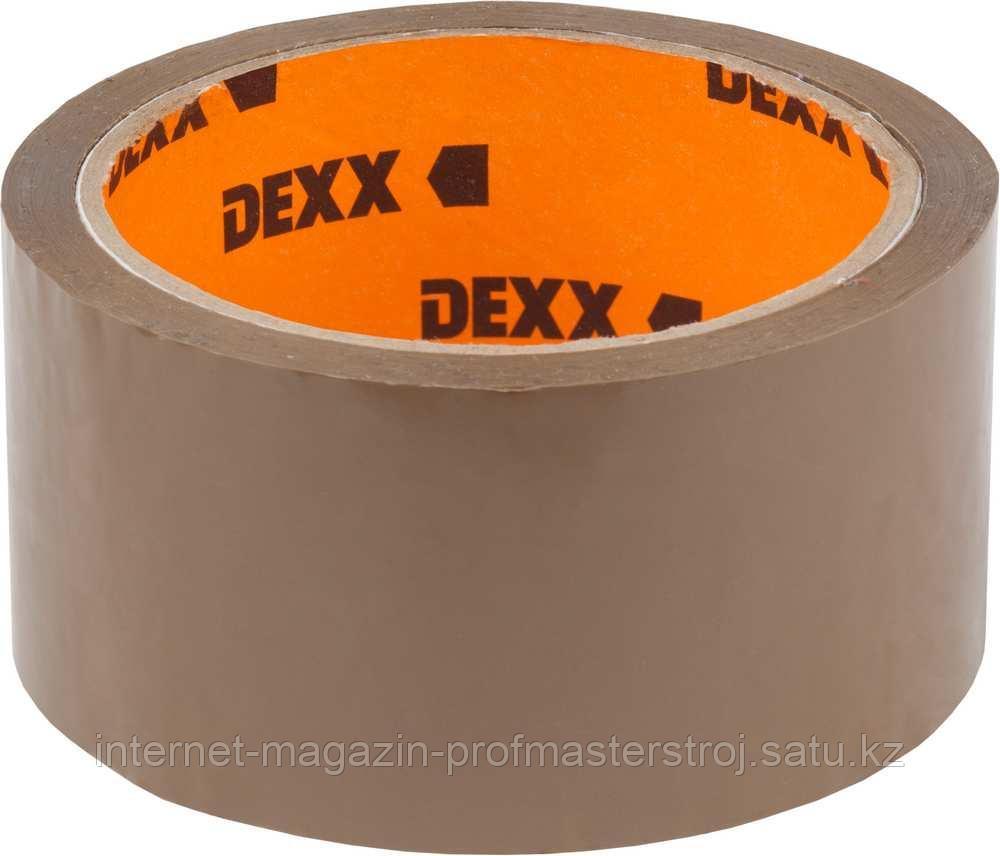 Лента клеящая упаковочная 40 мкм, 48 мм х 50 м, коричневая, DEXX