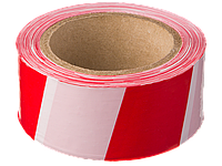Лента сигнальная, красно-белая, 50 мм x 150 м, серия MASTER, STAYER