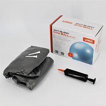 Мяч гимнастический для фитнеса GymBall LIVE UP [55, 65, 75 см, антивзрыв] с насосом (65 см), фото 3