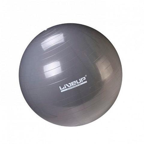 Мяч гимнастический для фитнеса GymBall LIVE UP [55, 65, 75 см, антивзрыв] с насосом (75 см)