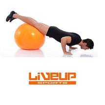 Мяч гимнастический для фитнеса GymBall LIVE UP [55, 65, 75 см, антивзрыв] с насосом (75 см), фото 2