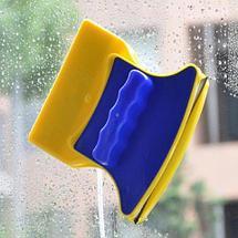 Магнитная щетка для двухстороннего мытья окон Double-Sided Glass Cleaner, фото 2