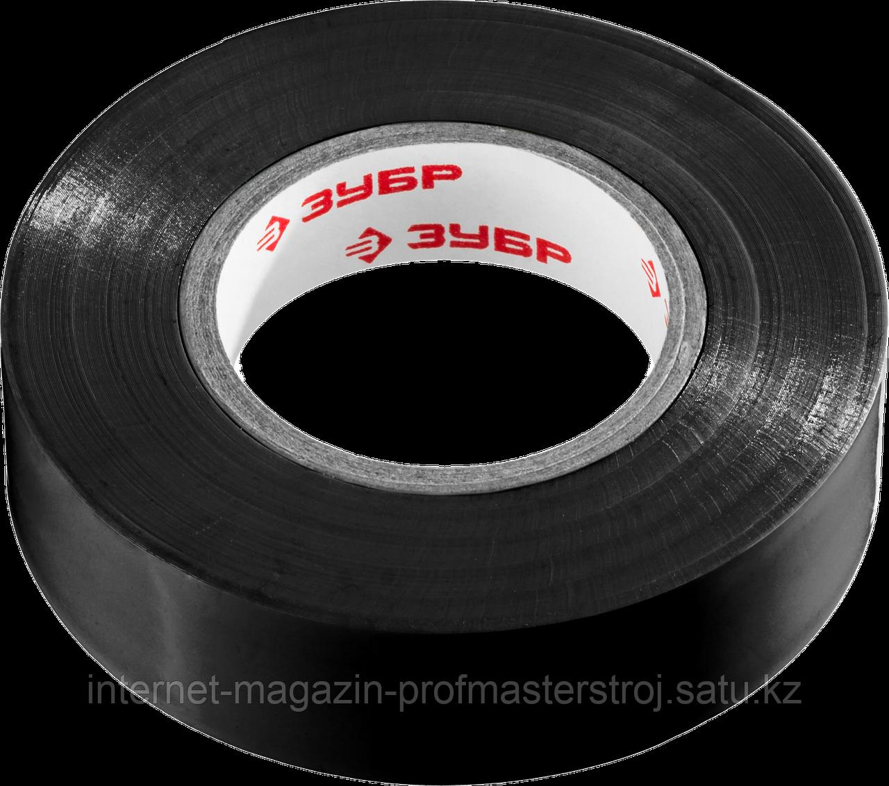 Изолента ПВХ, не поддерживающая горение, 6000 В, 19 мм х 20 м, черная, серия «МАСТЕР», ЗУБР