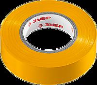 Изолента ПВХ, не поддерживающая горение, 6000 В, 19 мм х 20 м, желтая, серия «МАСТЕР», ЗУБР