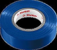Изолента ПВХ, не поддерживающая горение, 6000 В, 19 мм х 20 м, синяя, серия «МАСТЕР», ЗУБР