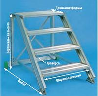 Алюминиевая лестница-подставка стационарная или передвижная