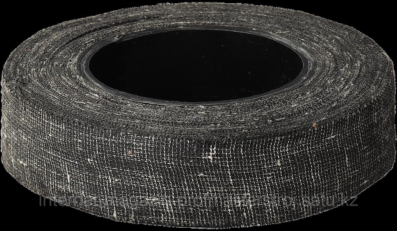 Изолента армированная х/б тканью, 20 мм x 15 м, 90 г, №1, черная, серия «МАСТЕР», ЗУБР