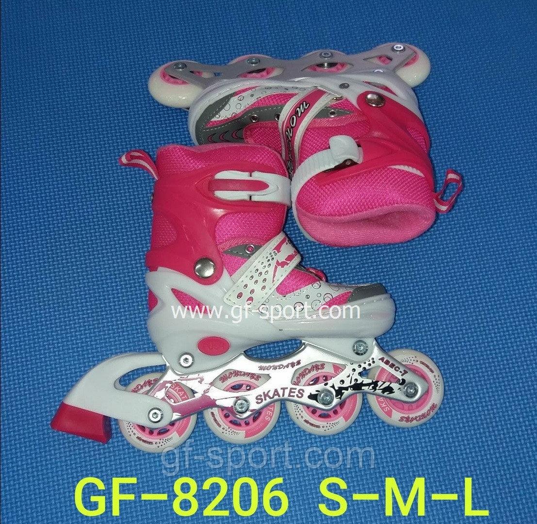 Роликовые коньки (раздвижные) гелевые 8206