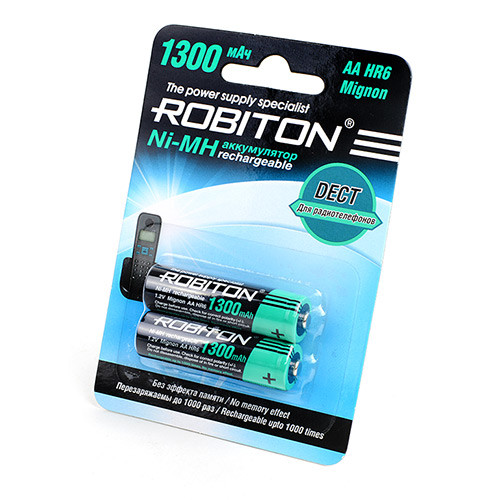 Аккумулятop ROBITON AA   1300mAh