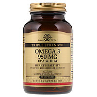 Омега-3. 950 мг. 50 капсул. Solgar