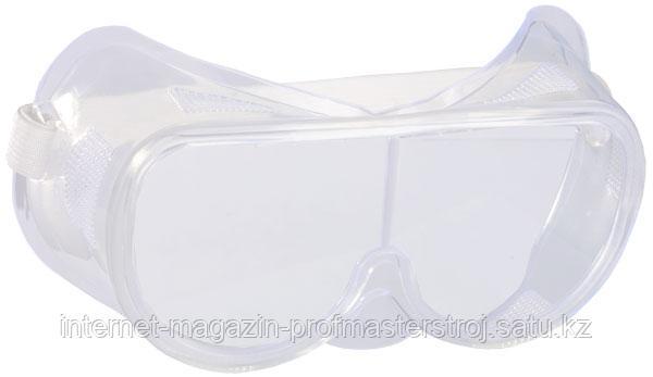 Очки защитные закрытого типа, прозрачные, c прямой вентиляцией, серия STANDART, STAYER