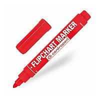 Маркер для флипчарта CENTROPEN, непропитывающий, круглый наконечник, 2,5 мм, красный, 8550/1К
