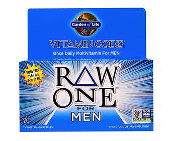 Garden of Life, Vitamin Code, Raw One, мультивитаминная добавка из сырых ингредиентов для мужчин