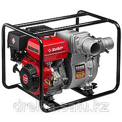 Мотопомпа бензиновая, ЗУБР МПГ-1800-100, для грязной воды, 1800 л/мин (108 м3/ч), патрубки 100 мм, напор 30 м
