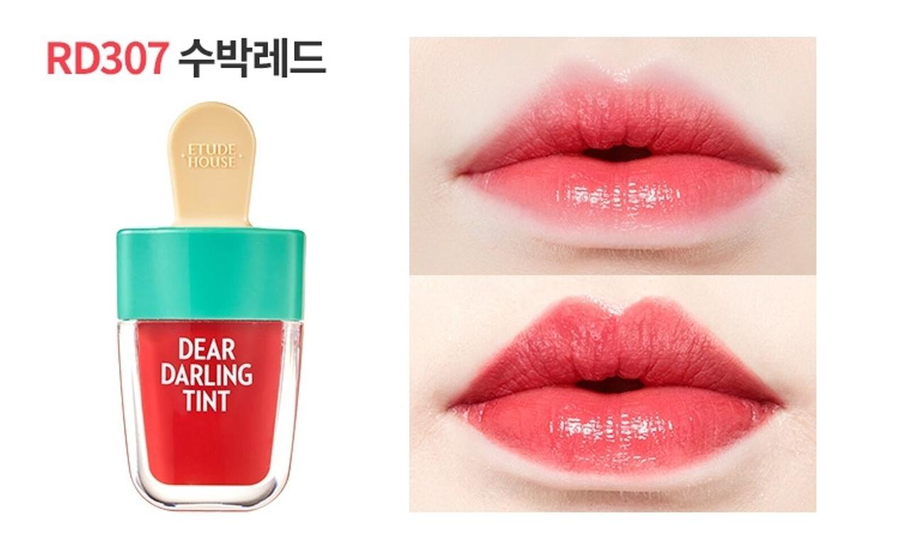 Тинт для губ Dear Darling Water Gel Tint 4.5g (Etude House) (#RD307 Watermelon Red)