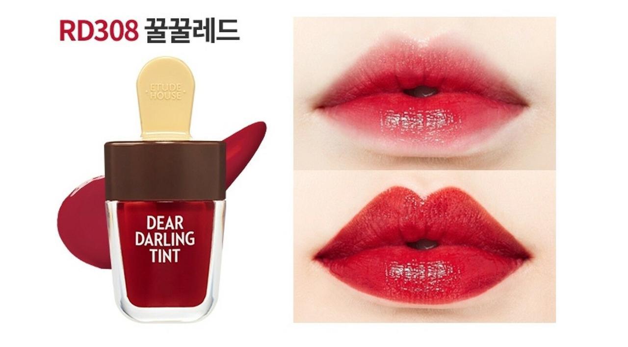 Тинт для губ Dear Darling Water Gel Tint 4.5g (Etude House) (#RD308 Honey Red)