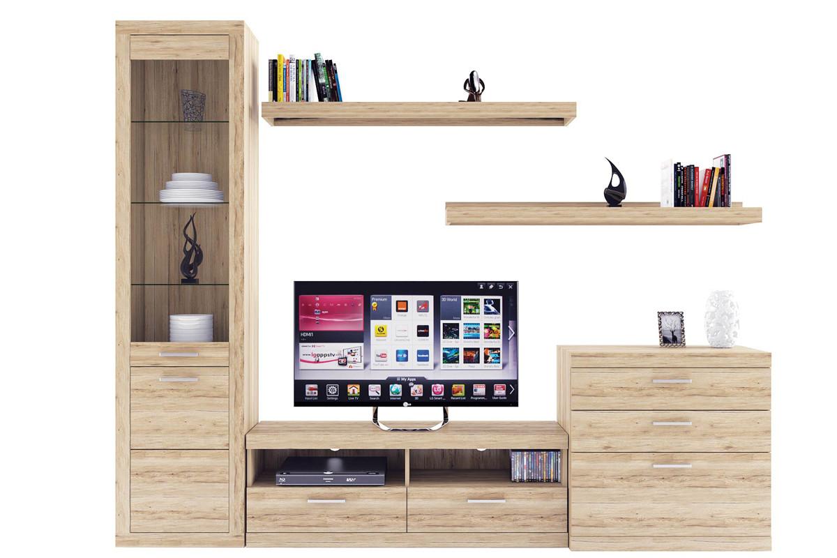 Комплект мебели для гостиной Оскар, Дуб Санремо, Анрэкс(Беларусь)