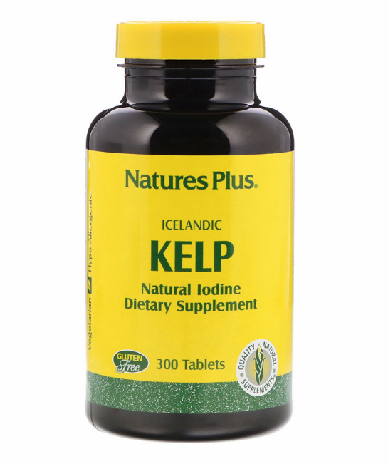 Nature's Plus, Норвежские бурые водоросли, 300 таблеток