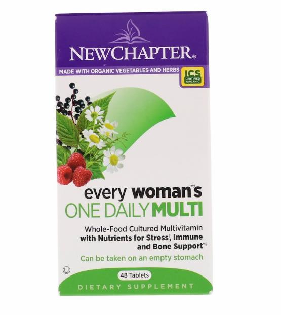 New Chapter, Ежедневные мультивитамины для каждой женщины, 48 таблеток.