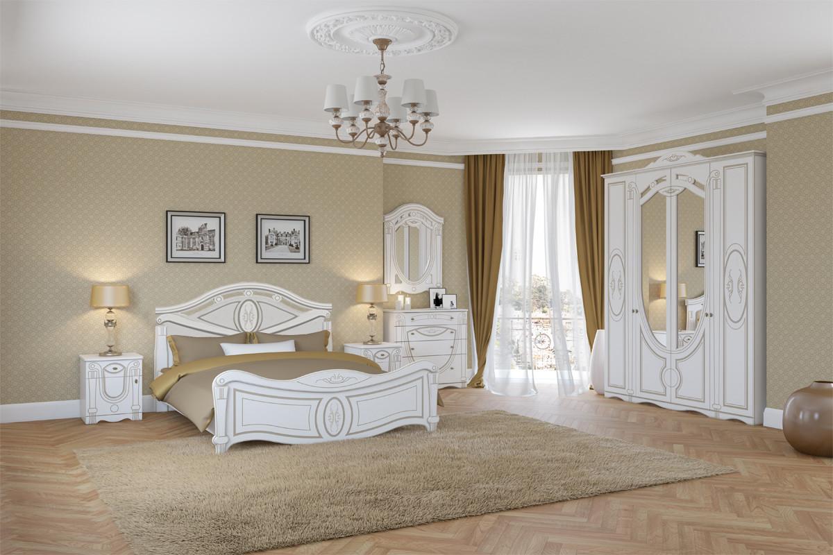 Комплект мебели для спальни Александрина, Белый Белый, Империал(Россия)
