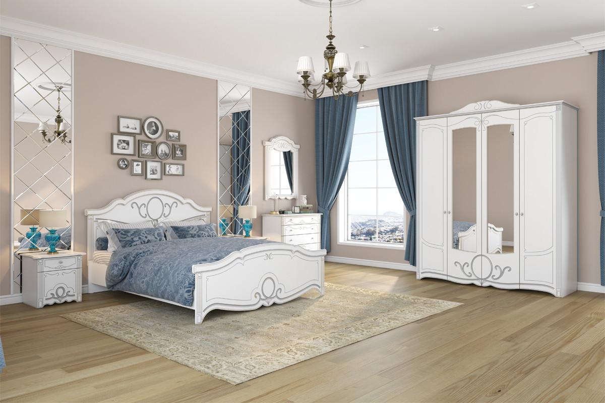 Комплект мебели для спальни Барбара, Белый Белый, Империал(Россия)