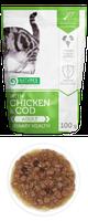 Влажный корм для кошек Nature's Protection with Chicken & Cod Urinary Health курица/треска (паучи)