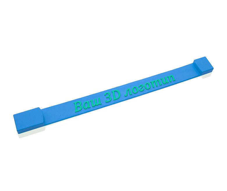"Флешка PVC004 ""Браслет с логотипом"" (синий) с чипом 4 гб"