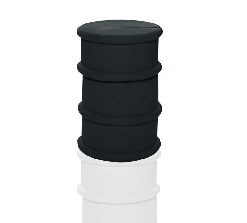 """Флешка PVC005 """"Бочка"""" (черный 433 c) с чипом 64 гб"""