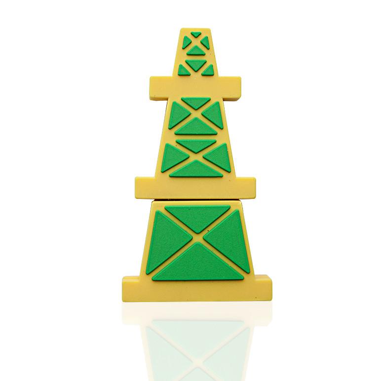 """Флешка PVC016 """"Вышка"""" (желтый) с чипом 8 гб"""