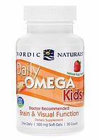 Nordic Naturals, Омега для детей, фруктовый вкус, 30 капсул.
