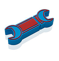 "Флешка PVC019 ""Гаечный ключ"" (синий) с чипом 32 гб"