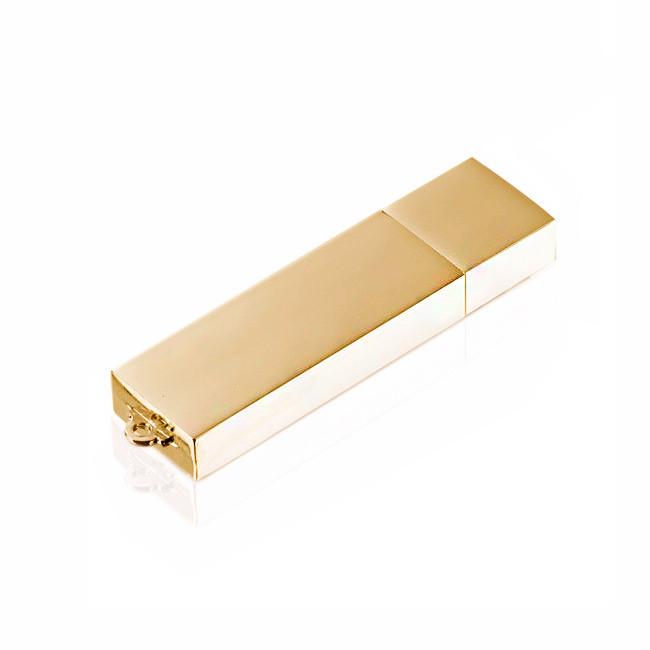 Флешка ME001 (золото) с чипом 8 гб