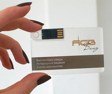 Флешка KR007 (прозрачный) с чипом 16 гб