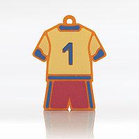 """ПВХ-брелок для УФ-печати BR012 """"Футбольная форма"""" с нанесением с 1 стороны"""