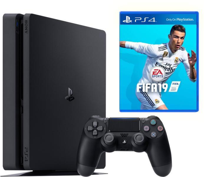 Игровая приставка Sony PlayStation 4 Slim 500 Gb Black + FIFA 19