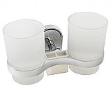 Настенный стакан для ванной комнаты (двойной), фото 4