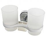 Настенный стакан для ванной комнаты (двойной), фото 5