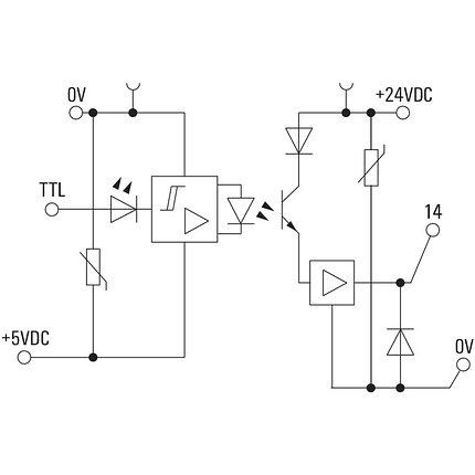 Твердотельные реле MOS 5VTTL/24VDC 0,1A, фото 2