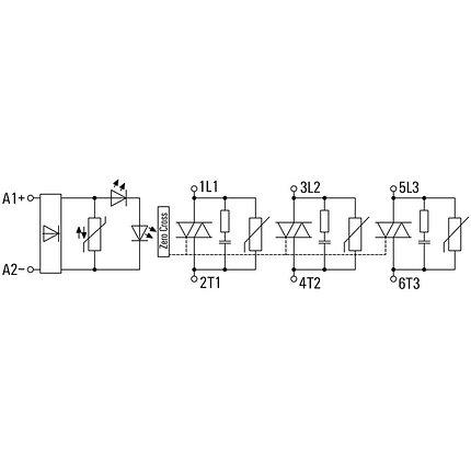 Твердотельное реле питания PSSR 24VDC/3PH AC 20A, фото 2