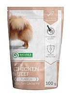 Влажный корм для щенков мелких пород Nature's Protection Mini Junior with Chicken & Beef  курица/говядина