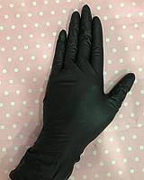 Перчатки нитриловые неопудренные черные смотровые