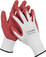 Перчатки трикотажные с латексным покрытием, садовые, размер S, серия «МАСТЕР», ЗУБР