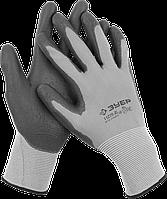 Перчатки трикотажные с полиуретановым покрытием, для точных работ, размер L, серия «МАСТЕР», ЗУБР