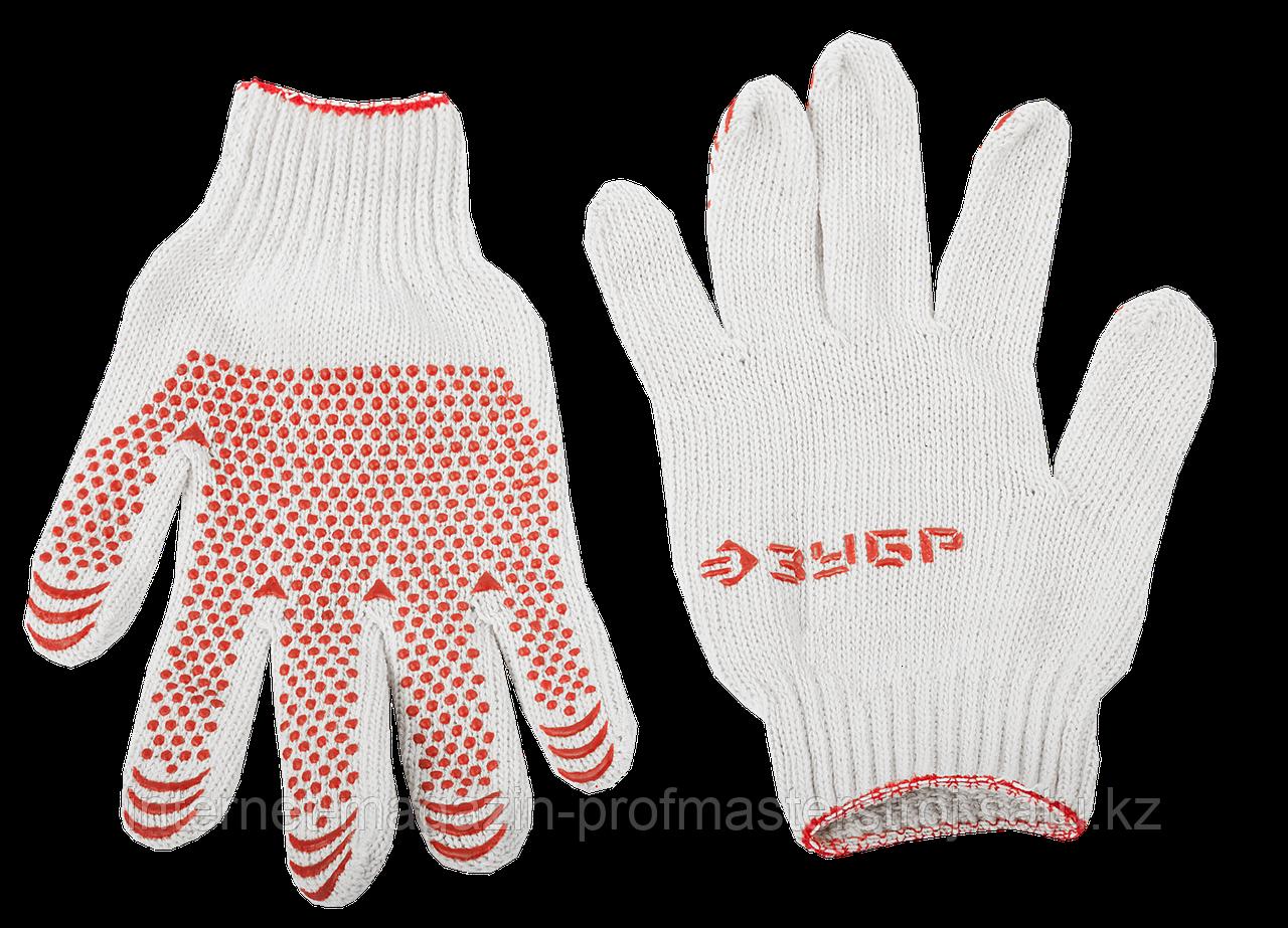 Перчатки трикотажные с защитой от скольжения, размер L-XL, 3 пары в упаковке, серия «МАСТЕР», ЗУБР
