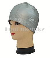 Комбинированная шапочка для плавания Yongbo серая