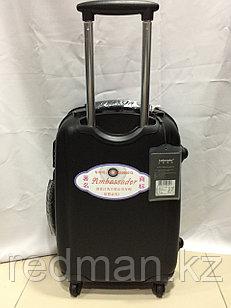 Большой из поликарбоната дорожный чемодан на 4-х колесах Ambassador (амбассадор, оригинал)