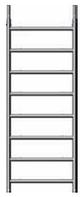 Навесная лестница 75/8 из алюминия, перекладины с противоскользящим рифлением