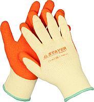Перчатки трикотажные, облив ладони (латекс), размер L-XL, серия EXPERT, STAYER